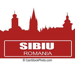 Sibiu city outline