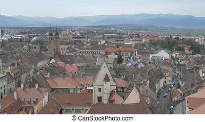 Sibiu City Panoramic View