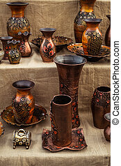 Traditional Romanian handmade ceramics market