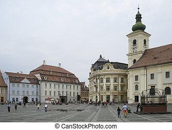 Sibiu in Romania - scenery in Sibiu, a city in Romania