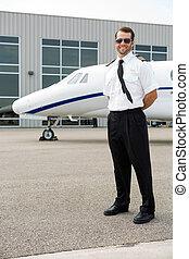 sicher, hintergrund, private düse, pilot