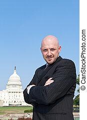 sicher, macht, makler, lobbyist, us kapitol