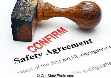sicherheit, -, abkommen, bekräftigen