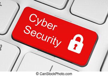 sicherheit, begriff, cyber