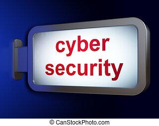 sicherheit, concept:, cyber, sicherheit, auf, werbewand,...