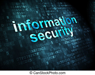 sicherheit, concept:, informationen, sicherheit, auf, digitaler hintergrund