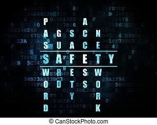sicherheit, concept:, wort, sicherheit, in, lösen,...