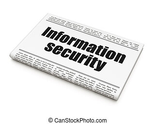 sicherheit, concept:, zeitung schlagzeile, informationen, sicherheit
