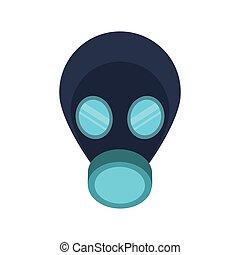 sicherheit, industrie, maske, ikone