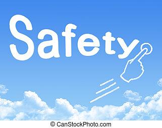 sicherheit, nachricht, wolke, form