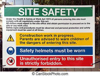 sicherheit, standort, zeichen