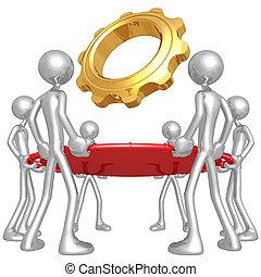 sicherheitsnetz, gold, ausrüstung
