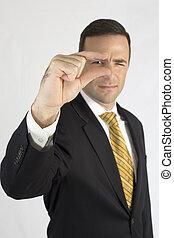 sichtung, finger, klage, spitzen, mann