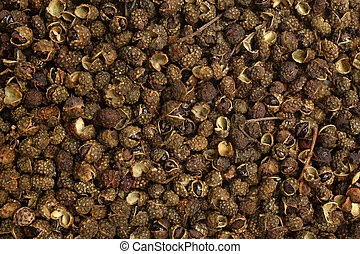Sichuan pepper (Zanthoxylum piperitum), for backgrounds or textures