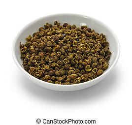 sichuan, pfeffer, grün