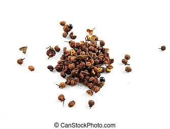 Sichuan/szechuan peppercorns isolated
