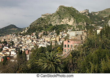 sicilië, taormina, (italy)
