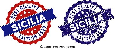 Sicilia Best Quality Stamp with Grungy Style - Sicilia...