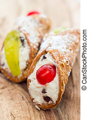 Sicilian cannoli from Italy