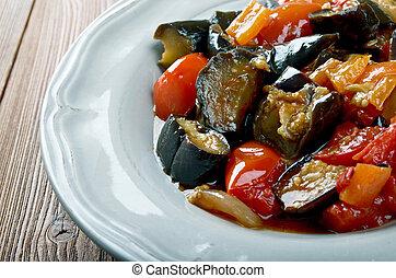 Sicilian Caponata di melanzane - traditional sicilian dish.
