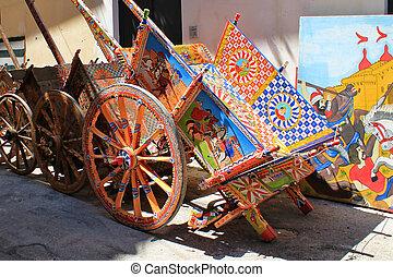 Palermo - Sicilian cart in Palermo, Sicily