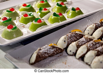 Sicilian cassata and cannoli