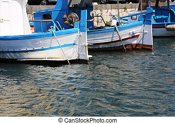 Sicilian Fisher Boats - old sicilian fisher boats in...