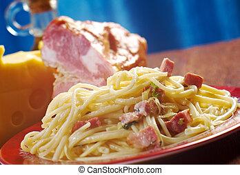 Spaghetti Carbonara - Sicilian homemade pasta - delizioso ...