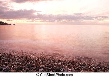 Sicilian Sea at sunrise