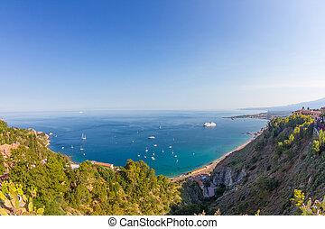 Sicilian seascape from Taormina