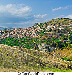 Sicilian Town - The Typical Sicilian Medieval Town on the ...