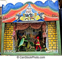 sicilien, marionnette, théâtre