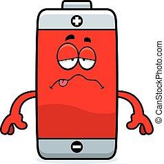 Sick Cartoon Battery