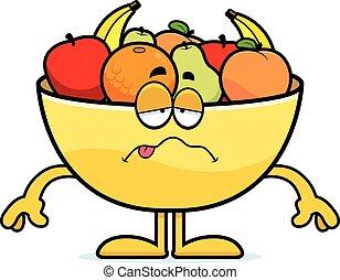 Sick Cartoon Bowl of Fruit