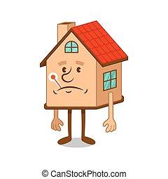 Sick cartoon character house