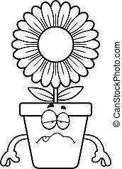 Sick Cartoon Flowerpot