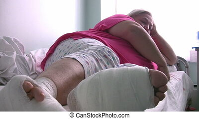 Sick diabetic women Full HD 1080p - Obese women with...