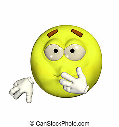 Sick Emoticon - Illustration of an sick emoticon isolated on...