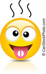 Sick emoticon with fever taking tablet
