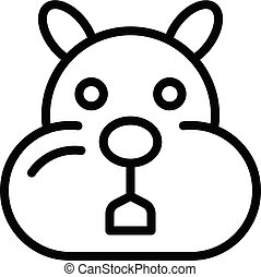 Sick hamster icon, outline style - Sick hamster icon. ...