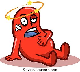 Sick Kidney - Kidney character in bad condition.