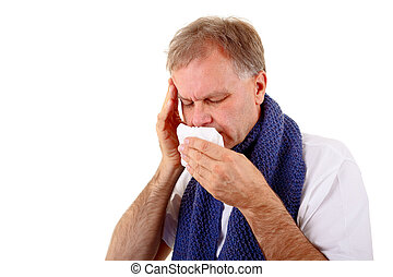 Sick man