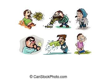 sick people illustration design