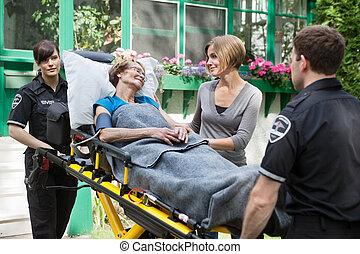 Sick Senior Woman