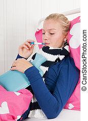 Sick teenager girl