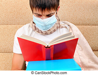 Sick Teenager read a Book