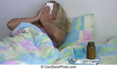 Sick, tired woman