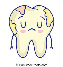sick tooth cute