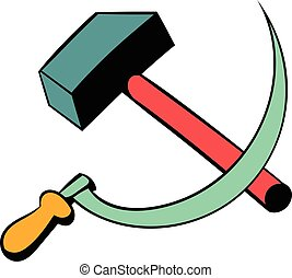 Sickle and the hammer icon cartoon