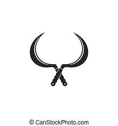 sickle icon vector illustration design